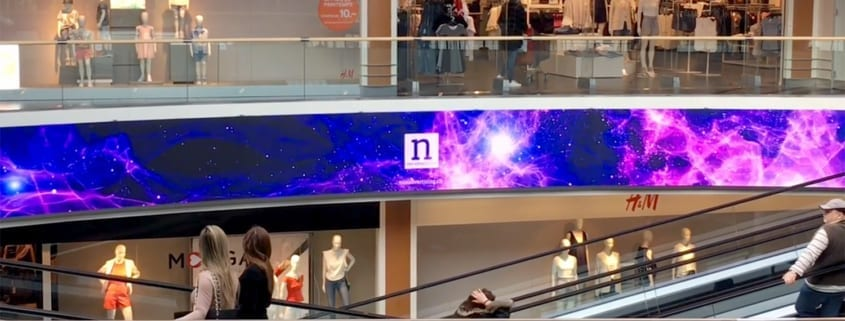 shopping malls and LED screens